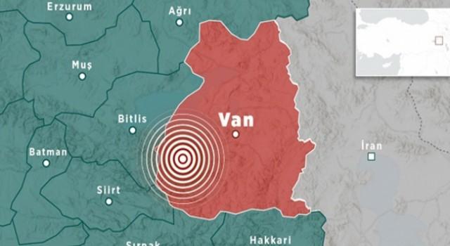 Van'da Üst Üste Korkutan Deprem