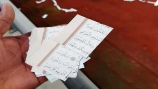 Ordu'da büyük skandal: Kuran-ı Kerim sayfalarını kesip konfeti yaptılar